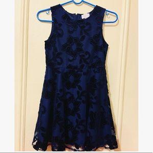 Girl navy blue dress